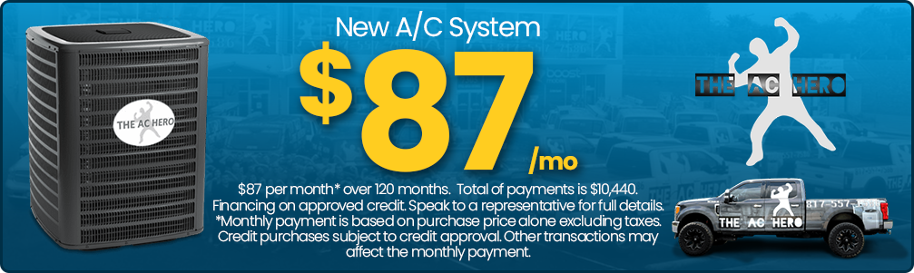 New AC system financing offer banner